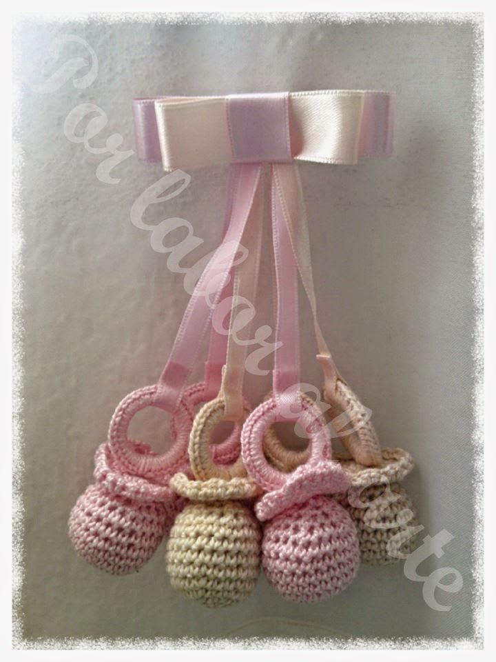 Por labor al arte: Chupetes para bebé crochet, ganchillo.