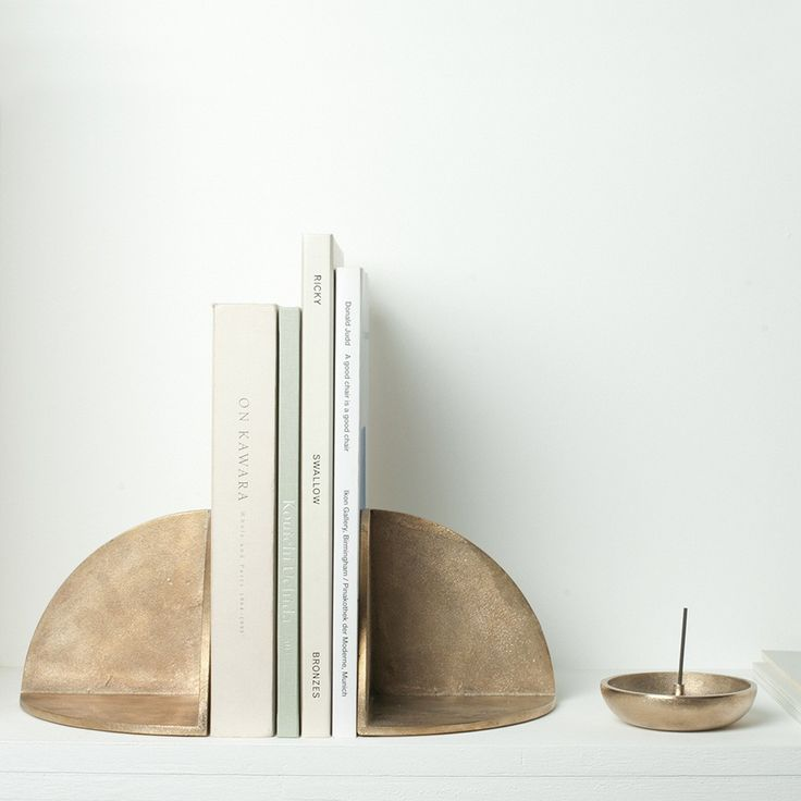 Brass Book End & Incense Holder by Saikai Toki    |   THE FUTURE PERFECT