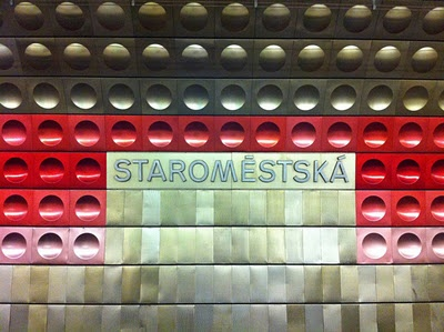 Prague's cool retro mod subway stations.