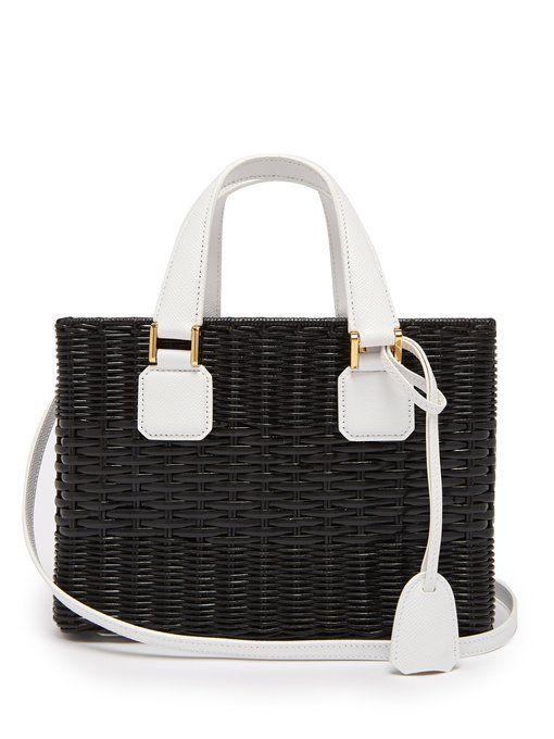 e8609aa5c8 Mark Cross Manray small wicker basket bag