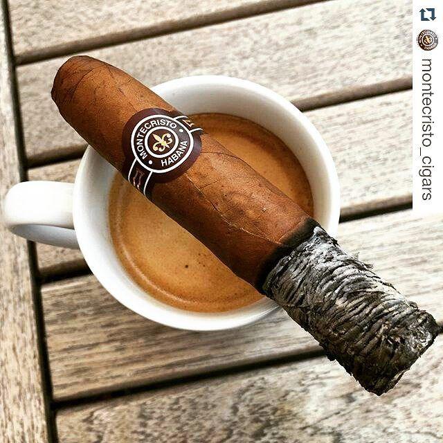 cigarsandwhiskeys: #Repost @montecristo_cigars ・・・ Montecristo petit no.2 & espresso