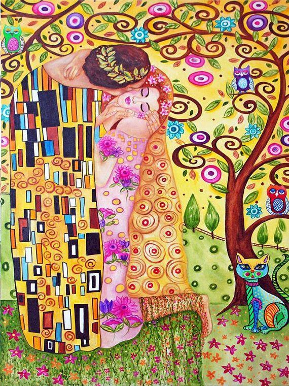 Original Art Print Klimt's Tree of Life by kMadisonMooreFineArt