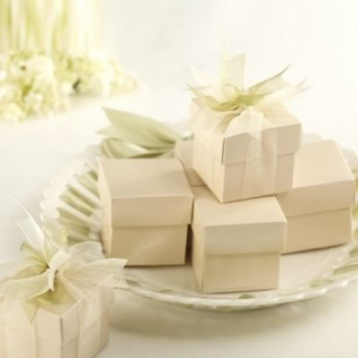 2 Piece Favor Boxes 50 Pack - Ivory 2 Piece Favor Boxes - Ivory - $29.95