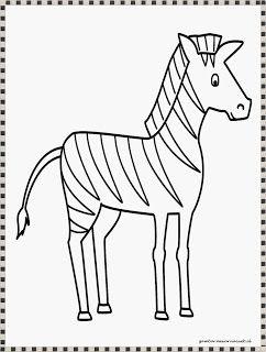 gambar zebra untuk diwarnai