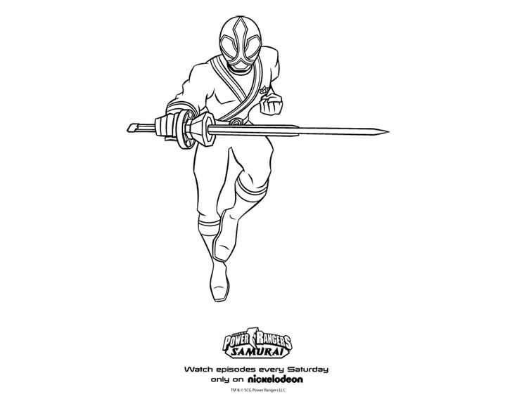 coloring pages power rangers samurai Power Rangers Samurai