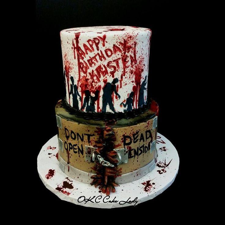 Best 25 Walking dead birthday cake ideas on Pinterest Walking