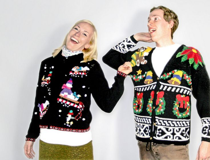 """Winter Outfit Ideas: """"Tacky Christmas Party"""" Attire."""