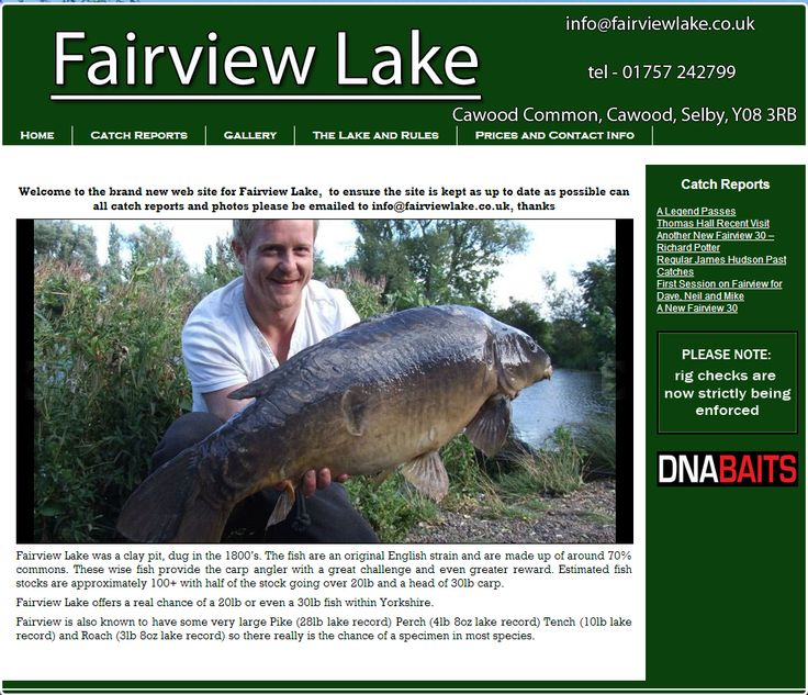 Fairview Lake - Fairview Lake was a clay pit, dug in the 1800's. The fish are an original English strain and are made up of around 70% commons. These wise fish prov... Check more at http://carpfishinglakes.com/item/fairview-lake/