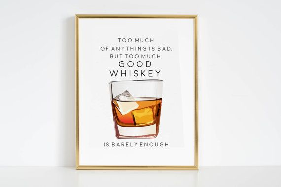 Whiskey Prints Bar Art Whiskey Posters Printable by DiaryOfLove