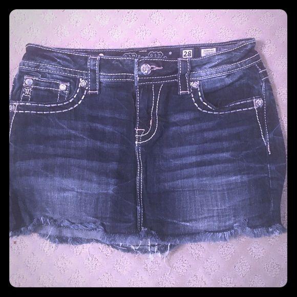 Brand New Miss Me Short Jean Skirt Brand New Miss Me Short Jean Skirt Miss Me Skirts Mini
