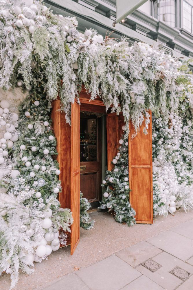Ivy Chelsea At Christmas In London Narnia Theme In 2020 Christmas Window Display Outdoor Christmas Christmas Window