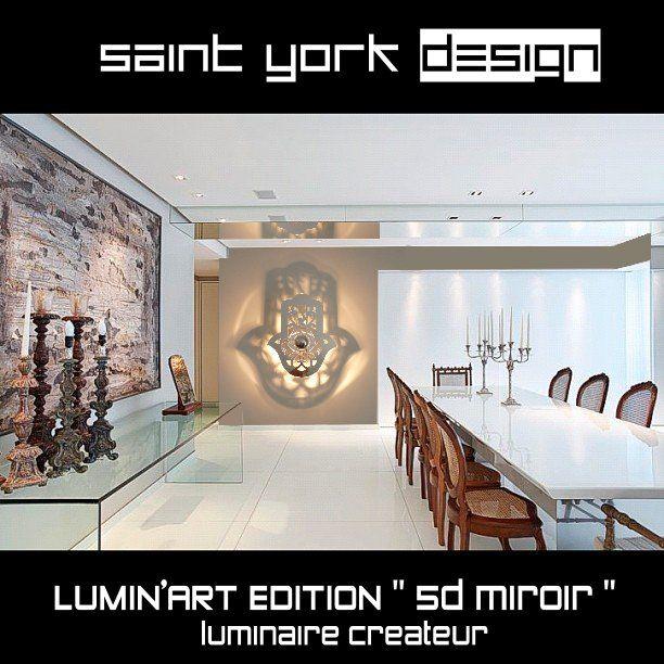 luminaire main de fatma effet miroir avec ombre port e au mur concept designer by saint york. Black Bedroom Furniture Sets. Home Design Ideas
