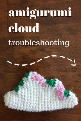 IMAGINARY WARDROBE: Amigurumi Cloud Troubleshooting - How to crochet an amigurumi cloud