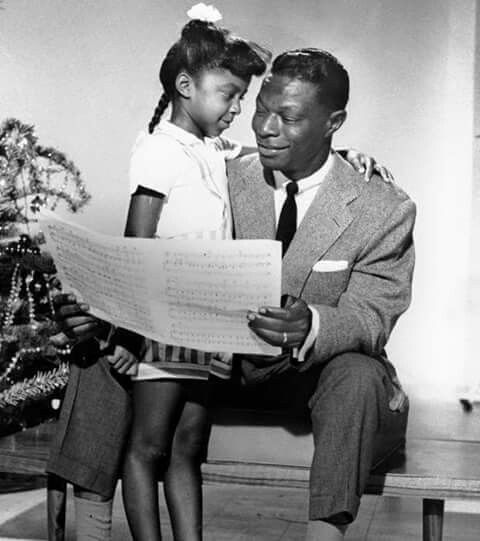 Natalie Cole and her father, Nat King Cole.