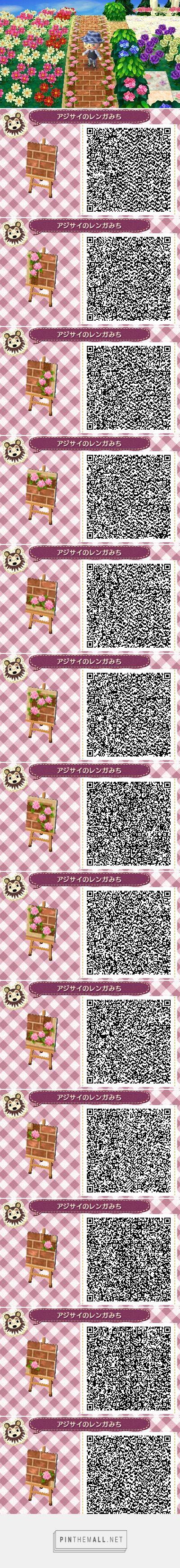 Pink hydrangea brown brick path