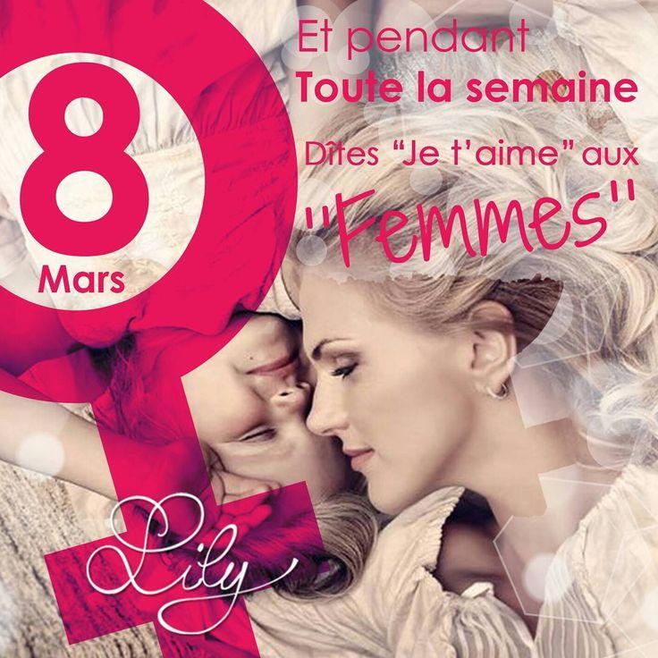 Les Trésors de Lily souhaitent une très bonne fête à toutes les Femmes de nos vies !  Pendant une semaine Lily déclarera son amour à ses femmes !  #love #femme #8mars #infinity #lestresorsdelily