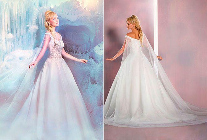 Elsa: por supuesto no podía faltar la última princesa de la casa con este diseño inspirado en la reina de hielo de 'Frozen'. Un vestido que brilla como si estuviera hecho de hielo y nieve.