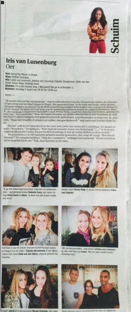 Wij staan in het Parool! We waren afgelopen maandag bij de perspresentatie van de Happy in Shape met de prachtige Lieke van Lexmond op de cover. Check voor het hele artikel: https://www.vivonline.nl/lieke-van-lexmond-happy-shape/