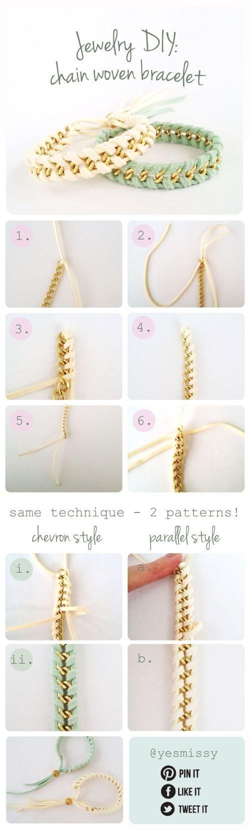 Bracelets chaîne + fil