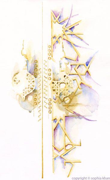 No5_Royal_Palace_Doors_Fez_III_watercolor_copyright_sophia_khan.jpg 367×600 pixels