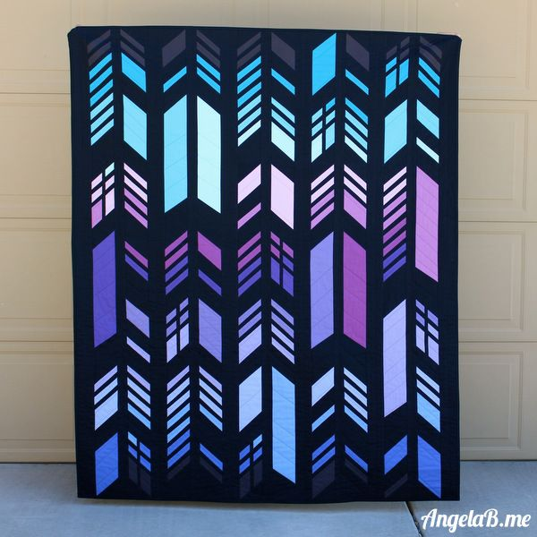 Feathers Quilt by Angela Bowman.  Pattern by Nydia Kehnle.