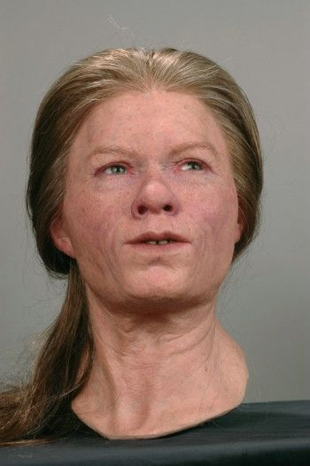 Reconstruction of a Mesolithic Swedish woman.