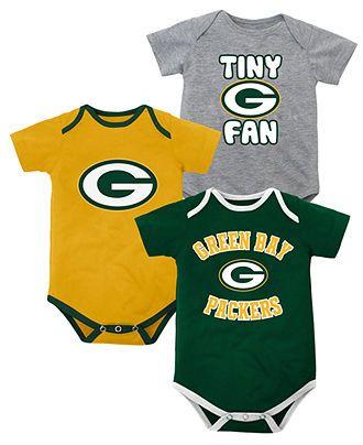Outerstuff NFL Baby Bodysuit, Baby Boys Green Bay Packers Bodysuit 3-Pack - Kids - Macys