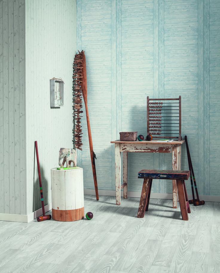 """Papier peint effet """" échelle bois """" de la collection METAPHORE par Caselio"""