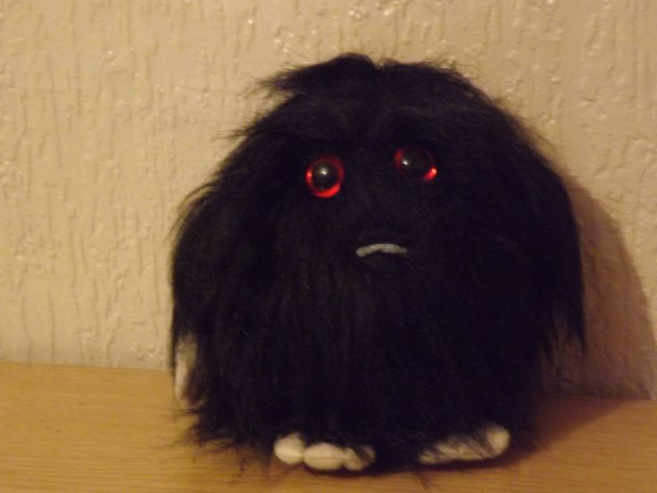 Excited to share the latest addition to my #etsy shop: OOAK handmade hairy fur monster novelty bear http://etsy.me/2BgnxZ2 #vintage #collectables #black #christmas #gift #novelty #teddy #bear #ooak
