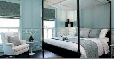blue: Dreams Bedrooms, Poster Beds, Blue Wall, Tiffany Blue, Blue Bedrooms, Master Bedrooms, Canopies Beds, Guest Rooms, Bedrooms Ideas
