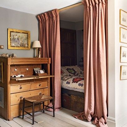See all our stylish bedroom design ideas. The alcove behind the door in the home of designer Patrick Williams has been turned in to a charming sleeping nook.