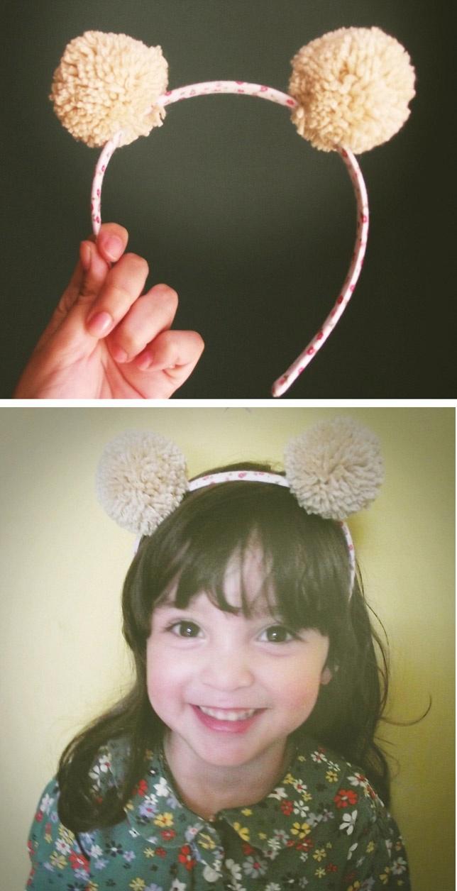 DIY Pom Pom Ears