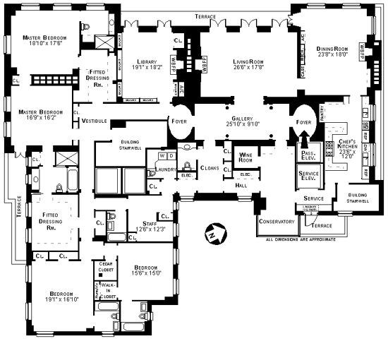 Best X Pre War Floor Plans Images On Pinterest Penthouses