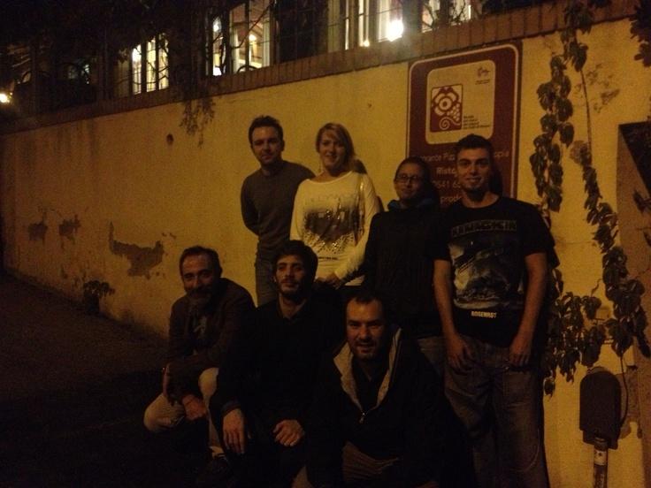 NdA crew, by night