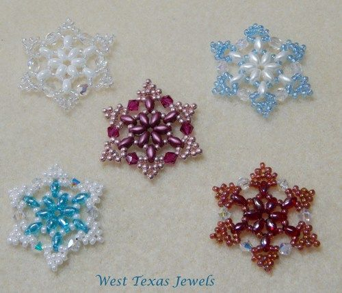 Pdf Pattern Snowflake 1 Beaded Ornament Pattern Beaded