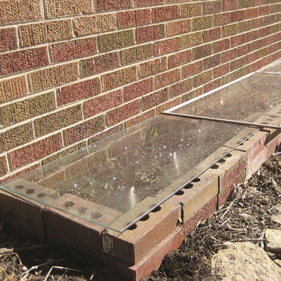 make a diy cold frame from storm windows