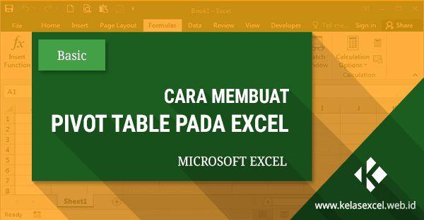Tutorial cara membuat dan menggunakan Pivot Table pada excel yang merupakan salah satu fitur microsoft excel untuk membuat data summary yang mudah di analisa