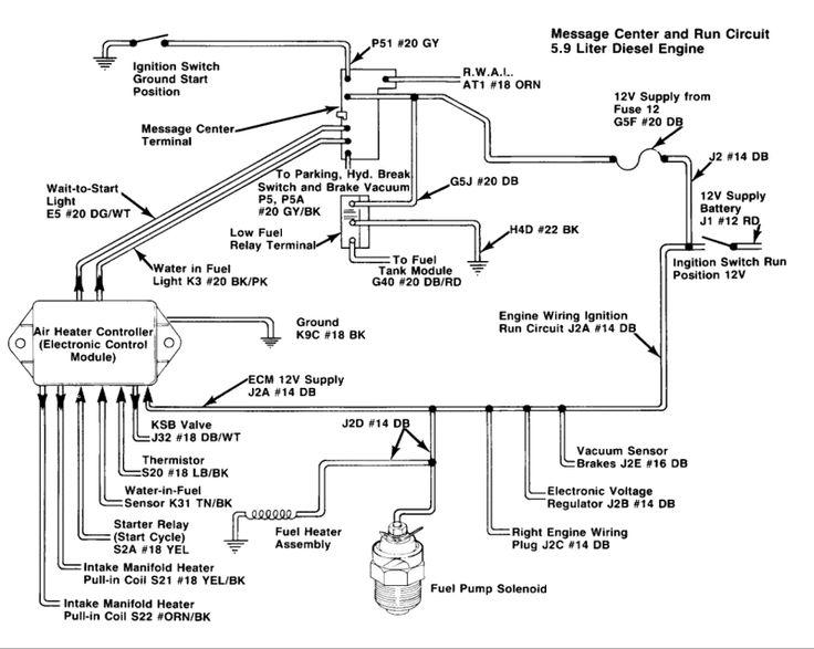 Diesel Engine Parts Diagram