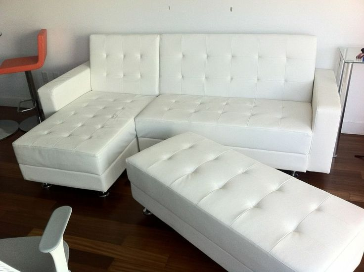 Sofa Covers White Leather Modern Sectional Sofa Sleeper with Ottoman