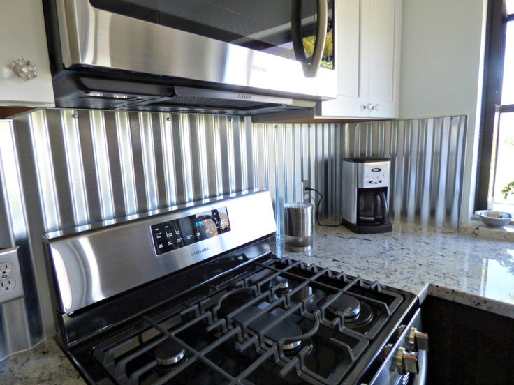 kitchen with metal backsplash corrugated metal backsplash kitchen remodels 6531