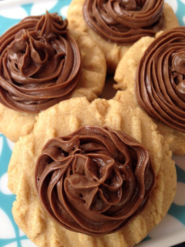 Jif Whipped S'mores on homemade peanut butter cookies ~ my entire family loved them! | The Happy Housewife