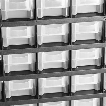 gaveteiro caixa organizador plastico 41 gavetas 300x490x138mm profissional black jack