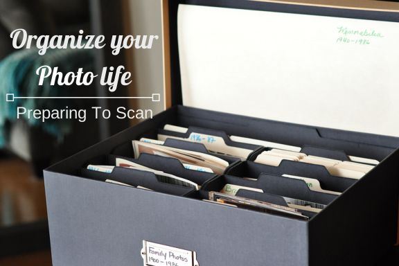 Organize Your Photo Life: Preparing To Scan Don't forget to create a scanning inventory checklist.