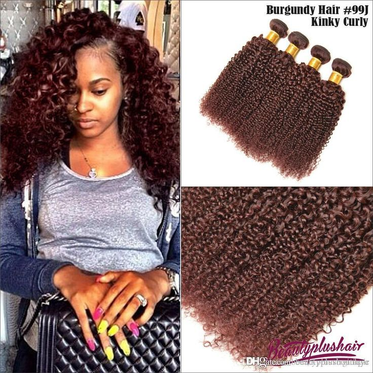 43 best burgundy hair color 99j images on pinterest burgundy wholesale 3 bundles grade 7a brazilian curly hair weaves kinky curly 99j hair weaves 100 human hair extensions cheap curly hair bundles pmusecretfo Image collections