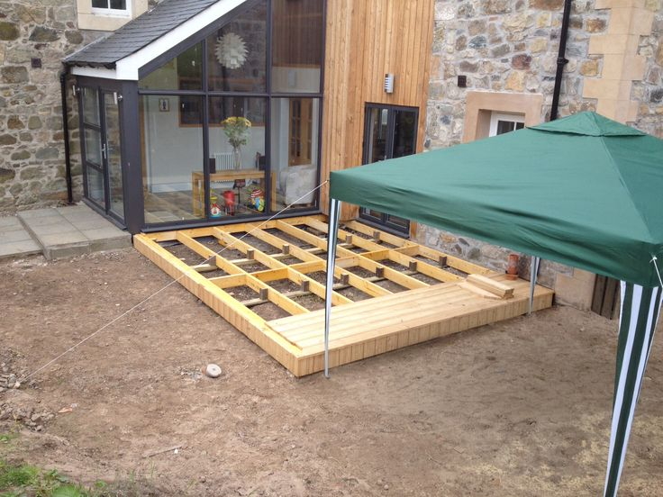 64 best images about garden playhouse roofs walls for Garden decking edinburgh