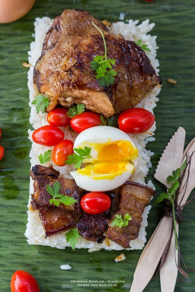 Apron and Sneakers - Cooking & Traveling in Italy and Beyond: Binalot: Chicken Pork Adobo and Steamed Rice Wrapped in Banana Leaves