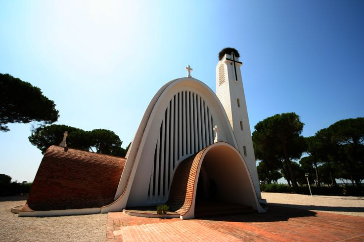 Santo Isidro de Pegões Church - built in 1957 Montijo, Portugal