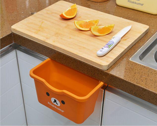 Armario colgando de basura de la cocina Bin caja de almacenamiento