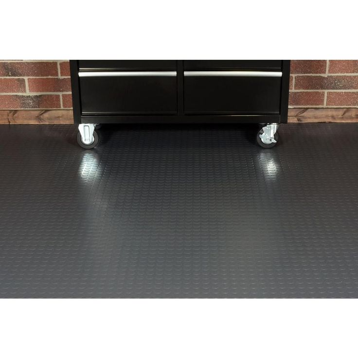 Husky 7 5 Ft X 17 Ft Coin Grey Universal Flooring