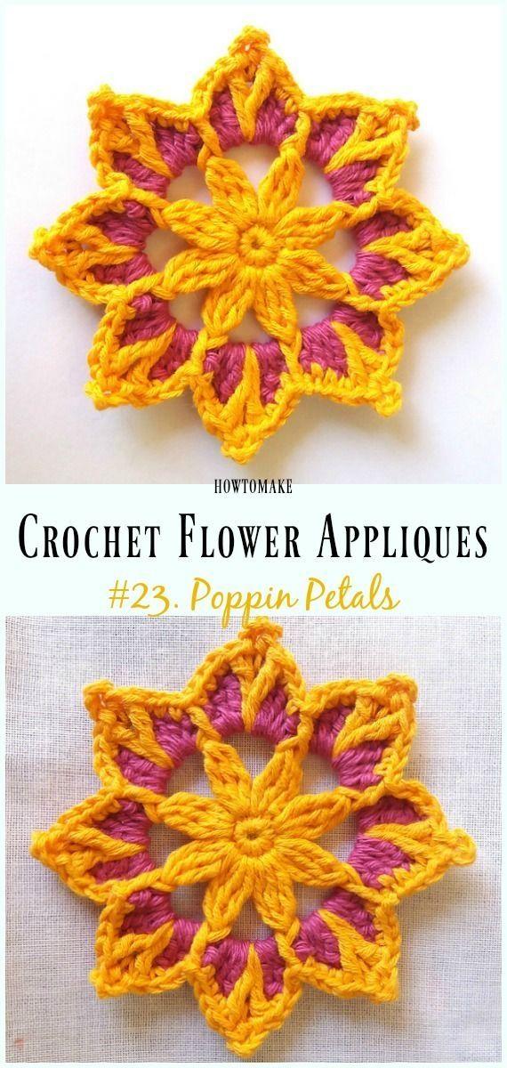 98b66353ec5b4 Poppin Petals Flower Free Crochet Pattern -Easy #Crochet #Flower ...